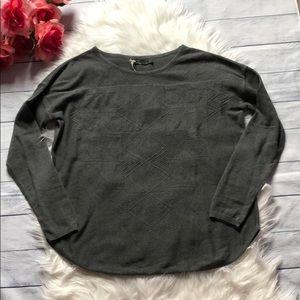 NWT Prana Gray Stacia Patterned Sweater